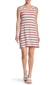 Max Studio Striped Sleeveless Shift Dress