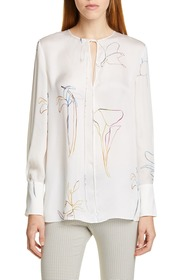Theory Nature Silk Chiffon Tunic