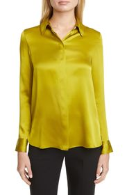 Theory Classic Straight Silk Blouse
