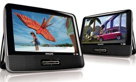"Philips PD9016/37 9"" Dual Screen DVD Player (Refur"