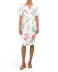 MAGGY LONDON Floral Crepe Sheath Dress
