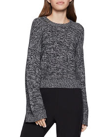 BCBGeneration Cropped Flare-Sleeve Sweater