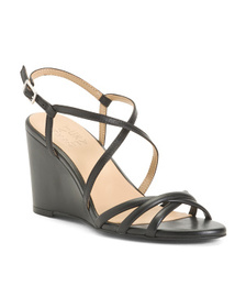 NATURALIZER Leather Comfort Wedge Sandals