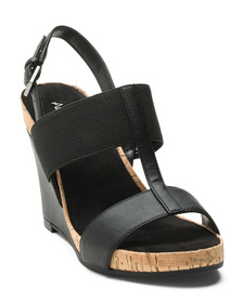 AEROSOLES Comfort Elastic Band Wedge Sandals