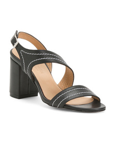 FABIANELLI Made In Italy Leather Heel Sandals