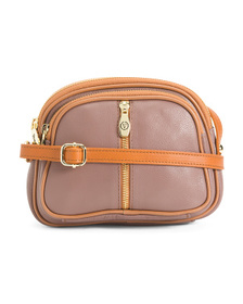 VALENTINA Made In Italy Leather Crossbody