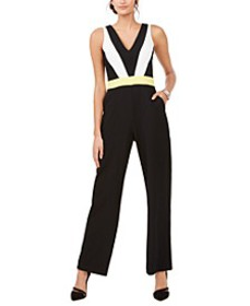 V-Neck Colorblocked Jumpsuit