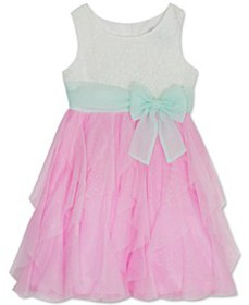 Toddler Girls Glitter Cascade Dress
