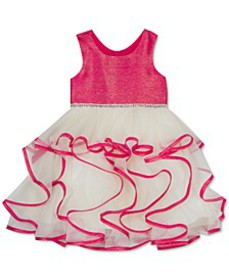 Toddler Girls Iridescent Cascade Dress