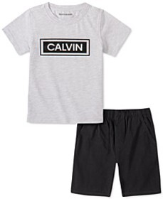 Toddler Boys 2-Pc. Logo T-Shirt & Twill Shorts Set