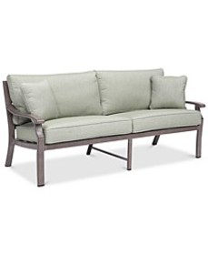 Tara Aluminum Outdoor Sofa, with Sunbrella® Cushio