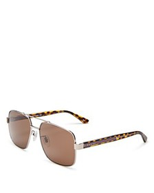 Gucci - Men's Brow Bar Aviator Sunglasses, 60mm