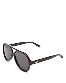 Gucci - Men's Flat Top Aviator Sunglasses, 57mm