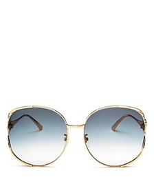 Gucci - Women's Oversized Round Sunglasses, 63mm