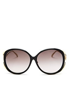 Gucci - Women's Oversized Round Sunglasses, 60mm