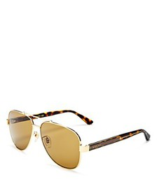 Gucci - Men's Brow Bar Aviator Sunglasses, 63mm