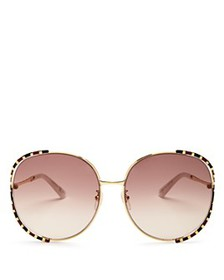Gucci - Women's Oversized Round Sunglasses, 64mm