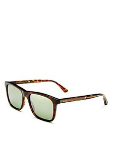 Gucci - Men's Mirrored Square Sunglasses, 55mm