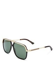 Gucci - Men's Vintage Web Brow Bar Aviator Sunglas