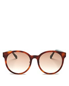 Gucci - Women's Web Round Sunglasses, 55mm