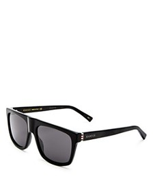 Gucci - Men's Flat Top Square Sunglasses, 57mm