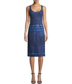 Nicole Miller Shibori Scoop Neck Dress