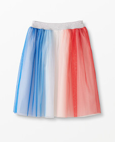 Hanna Andersson Red, White & Blue Tulle Skirt