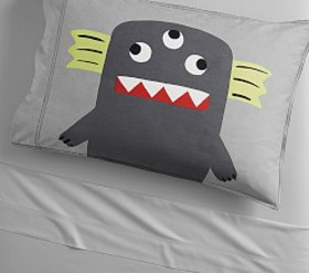 Pottery Barn Organic Washed Sateen Monster Pillow