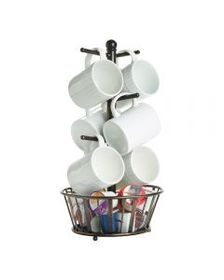 Mikasa Mug Tree Stand with Basket