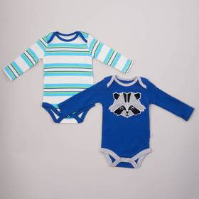 Baby Boy (0-9M) Rosie Pope 2pc. Racoon Bodysuit Se