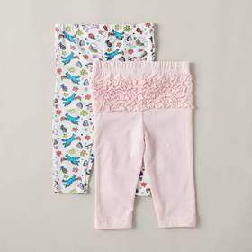 Baby Girl (0-9M) Quiltex 2-Pack Unicorn & Solid Le