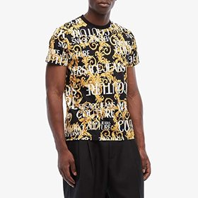 Versace Jeans Couture Logo Baroque Print T-Shirt
