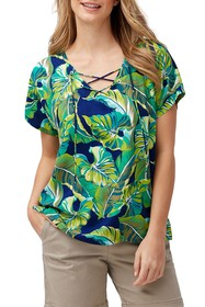 Tommy Bahama Lovely Lanes Lace-Up Top