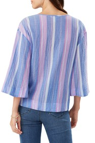 Tommy Bahama Stripe Down 3/4 Sleeve Top