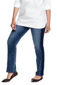 Lands End Women's Plus Size Not-Too-Low Rise Slim