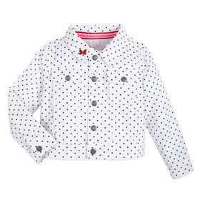 Disney Minnie Mouse Denim Jacket for Girls – White