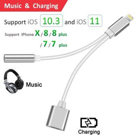 2 in 1 Lightning for iPhone 8 Adapter,CACO MALL ip