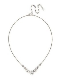Sorrelli Delicate Round Crystal Necklace GOLD
