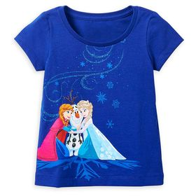 Disney Anna, Elsa, and Olaf T-Shirt for Girls