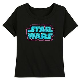 Disney Star Wars Logo Flip Sequin T-Shirt for Girl