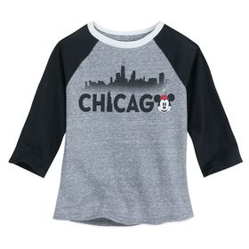Disney Minnie Mouse Chicago Raglan Shirt for Girls
