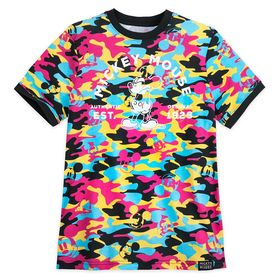 Disney Mickey Mouse Camouflage Ringer T-Shirt for