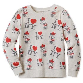 Disney Minnie Mouse I♥New York Sweatshirt for Girl