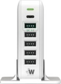 Just Wireless - 6-Port USB Charging Station - Whit