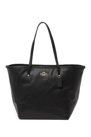 Coach Large Leather Street Tote Bag