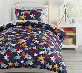 Pottery Barn Retro Star Dream Puff Comforter