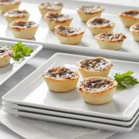 Mini Wild Mushroom And Cheese Tart