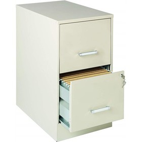 2 Drawer Letter File Cabinet in Stone Brown-Scrant
