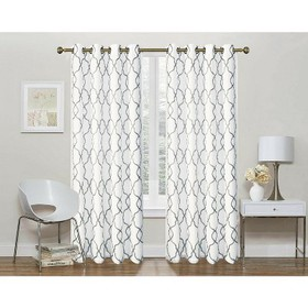 Regal Home 2 Pack: Geo Trellis Sheer Embroidered G