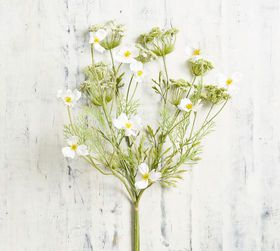 Pottery Barn Faux Queen Anne's Lace And Cosmos Bou